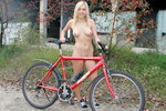 Nudist on bike